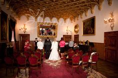 Elopment at Bojnice castle, Slovakia, Europe - small wedding ceremony with the closest family at the castle. Why not?