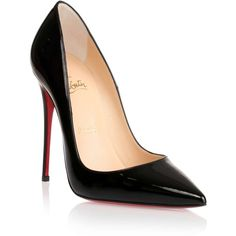 Christian Louboutin So Kate 120 black patent pump (185.555 HUF) ❤ liked on Polyvore featuring shoes, pumps, heels, sapatos, black, heels & pumps, black high heel shoes, black patent leather pumps, high heel pumps en heels stilettos