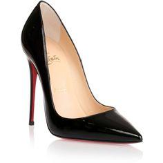 Christian Louboutin So Kate 120 black patent pump found on Polyvore