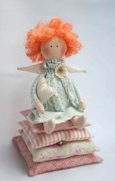 Tilda doll Little Princess and the Pea fabric doll by KatiesTilda