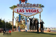 The most photographed location in all of Las Vegas is the Welcome to Las Vegas sign!  Our photographer's favorite too for creating a fun Vegas feel!