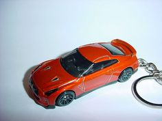 R35 Yellow Toy Car Keyring Keychain Fast Color Diecast Nissan Skyline Gtr Gt-r
