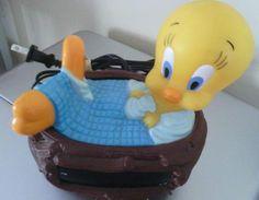 Tweety Bird Bubble Bath Alarm Clock & Sylvester Dish (FREE SHIP!)
