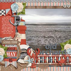 Cute Old-Orchard Beach Scrapping Page...love all the embellishments!