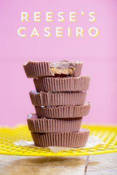 Reese's – barrinha de chocolate recheada com Manteiga de Amendoim   Vídeos e Receitas de Sobremesas