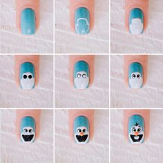 Nail art: Olaf do filme Frozen