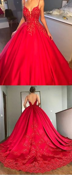 red ball gowns, chic v-neck formal prom party dresses, fashion evening dresses with appliques train. red ball gowns, chic v-neck formal prom party dresses, fashion evening dresses with appliques train. Sweet 16 Dresses, Cheap Prom Dresses, Prom Party Dresses, Quinceanera Dresses, Evening Dresses, Formal Dresses, Formal Prom, Dresses Elegant, Pageant Dresses