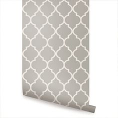 Moroccan Grey Peel & Stick Fabric Wallpaper Repositionable