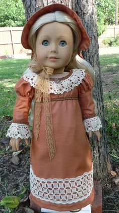 Regency Style Gown and Bonnet by Designed4Dolls