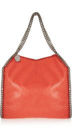 Stella McCartney The Falabella faux brushed-leather shoulder bag Stella Mccartney Falabella, Leather Shoulder Bag, Objects, Handbags, Purses, Accessories, Shoes, Style, Fashion