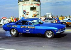 The BLUE HELL Corvair Funny Car