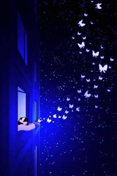 Image about art in Good Night ✨ by Miss__Flower Butterfly Wallpaper, Butterfly Art, Galaxy Wallpaper, Cute Wallpaper Backgrounds, Pretty Wallpapers, We Heart It Images, Lovely Girl Image, Beautiful Fantasy Art, Anime Scenery