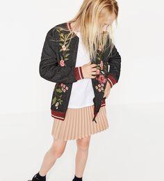 Image 1 of Embroidered plush bomber jacket from Zara