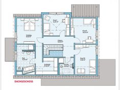 Grundriss DG - Variant DG-Variant Model house Wuppertal, living and working in one house, m², net floor area m² Surface Habitable, Prefabricated Houses, Construction Business, Model Homes, House Floor Plans, Interior And Exterior, Sweet Home, Home And Garden, Flooring