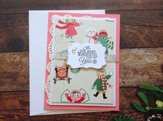 Christmas cards,homemade cards, handmade cards,cute Christmas cards, shabby chic Christmas cards, by PinkyPromiseBargains on Etsy