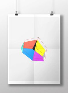 The Great Heptahedron Poster III by GEOPERDAY on Etsy, $35.00