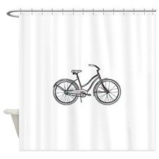 Retro Bike Shower Curtain