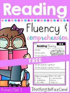 Reading Fluency and Comprehension (Set Very first reading comprehension! 40 Fun and Engaging Fluency and Comprehension Pages. Builds student Fluency and Confidence in reading, and comprehension for understanding! Reading Centers, Reading Intervention, Reading Passages, Kindergarten Reading, Guided Reading, Teaching Reading, Free Reading, Reading Comprehension, Literacy Centers