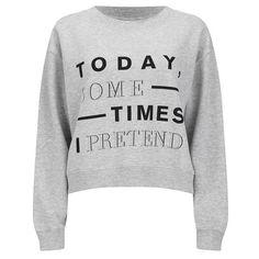 Cheap Monday Women's Expand Sweatshirt - Light Grey Melange (€27) ❤ liked on Polyvore featuring tops, hoodies, sweatshirts, shirts, sweaters, jumpers, grey, light grey shirt, crewneck sweatshirt and light gray shirt