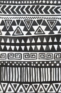 Black Tribal Wallpaper Pattern Wallpaper Patterned Wall Murals Murals Wallpaper Black Tribal Line Design Wallpaper Black And White Tribal Pattern Wallpaper Ethnic Patterns, Pretty Patterns, Textile Patterns, Textile Design, African Patterns, Geometric Patterns, White Patterns, Pattern Art, Pattern Design