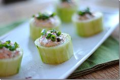 cucumber cups stuffed with spicy crab  (eat yourself skinny blog)