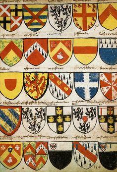 Armoiries de la marche de Flandre, Grand Armorial équestre de la Toison d'Or, Flandres, 1430-1461.