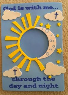 Make a moon & have kids color yellow stars and tape them to the wall. Put kids names on the stars...