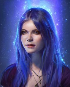 Blue stars as holographic art! Katia by janaschi on deviantART