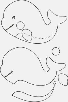 Mais alguns moldes de bichinhos e desenhos do mesmo tema para fazer em feltro ou com outros materiais! Todos os moldes foram encontr...