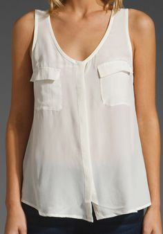 JOIE Balsa Tank in Porcelain at Revolve Clothing