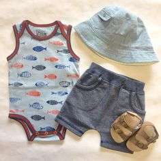 Baby's day out! Great summer outfit for your baby boy