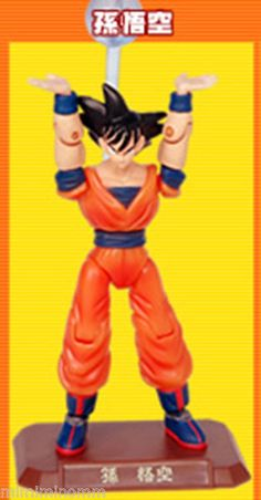 Dragon Ball Z Son Gokou Magnet Action Special Attack Mini Figure Popy JAPAN