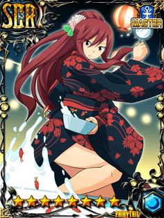 Just saw this Erza Scarlet card from Fairy Tail Brave guild. Fairy Tail Drawing, Fairy Tail Art, Fairy Tail Girls, Fairy Tail Anime, Fairy Tales, Fairy Tail Erza Scarlet, Fairy Tail Natsu And Lucy, Erza Scarlett, Softies