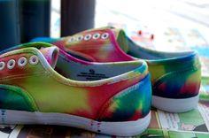 9e4792b2726b DIY  Tie-Die Shoes!!! (make your own) Tie Dye
