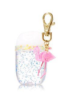 Pink Flamingo Glitter Band PocketBac Holder - Bath And Body Works