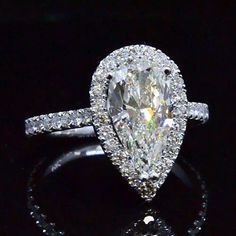2.70 Ct. Pear Cut Diamond Engagement Ring - Recently Sold Engagement Rings