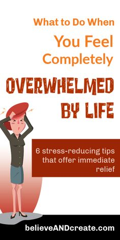 If you're feeling overwhelmed, then you need to click through and read how to regain peace and calm in your life again. Overwhelmed By Life, Feeling Overwhelmed, Self Development, Personal Development, Stress Relief Tips, Dealing With Stress, Transform Your Life, Self Care Routine, Working Moms