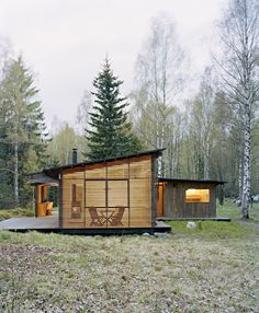 sweden cabin  question: how do we evoke both minimalism and nature in this way, in a magazine?