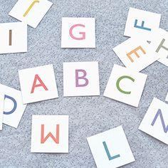 Basic Alphabet Cards