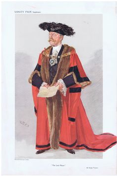 Date:  04-Nov-1908   The Vanity Fair Caricature of    Alderman Sir George Wyatt  Truscott  With the caption of  :  The Lord Mayor  By the artist:  SPY Visit www.theakston-thomas.co.uk for many more Vanity Fair Prints