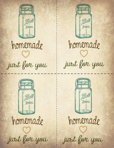 Jar Printable Gift Tags