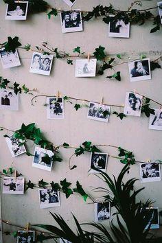 Trendy wedding photos wall in house Polaroid Wand, Polaroid Wedding, Wedding Photo Walls, Photowall Ideas, Decoration Photo, Exposition Photo, Photo Deco, Diy Wall Decor, Photo Displays