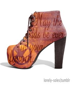 May the odds be ever in your favor [The Hunger Games] shoes <3