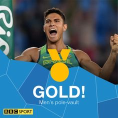 8/15/16 Via BBC Sport  ·    Huge shock!  Thiago Braz da Silva beats defending champion Renaud Lavillenie!  http://bbc.in/2btllA1