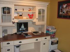 Idea for Our Disney themed home office -