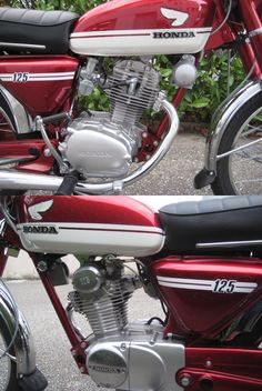 Wheelmemories : Completely Restored 1973 Honda 125 CBS within the unique Cherry col… - Autos Online Old Honda Motorcycles, Honda Bikes, Scrambler Motorcycle, Vintage Motorcycles, Honda 125, Riders On The Storm, Bike Photography, Japanese Motorcycle, Classic Bikes