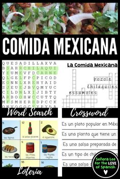 BILINGUAL! Have fun learning about authentic Mexican foods. Most kids can talk about tacos, burritos and quesadillas...but do they know about ceviche, chilaquiles and chapulines? Great way to introduce Mexican foods and get them talking about their likes and dislikes! Designed for middle school Spanish students or Spanish 1 or 2 students. Could also be used in a culinary class for English speaking students.