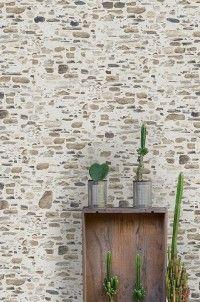 Papier peint Mur de Pierres - Papier peint effet matière - Papiers peints   E-papier-peint.com Summer Design, Main Entrance, Texture Art, Laminate Flooring, Wall Wallpaper, Home Remodeling, Outdoor Structures, Architecture, Plants