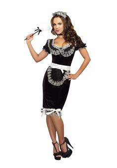 When it comes to Halloween costumes, you won't be disappointed in our sexy french maid uniform costume, which also works as a sexy costume. Find the perfect French maid outfit for you, we even carry a French maid costume in plus sizes. Maid Halloween, Sexy Halloween Costumes, Adult Costumes, Costumes For Women, Maid Costumes, Adult Halloween, Holiday Costumes, Halloween 2017, Girl Costumes
