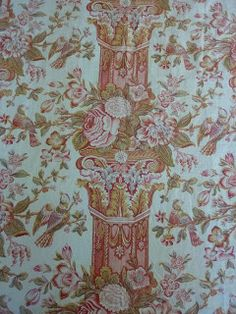 Secret Sewing Sisterhood: antique chintz pillar print bought by Di Ford from Mary Koval